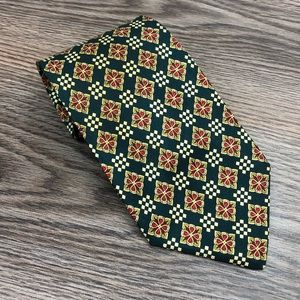 Valentino Accessories - Valentino Green w/ Gold & Red Check Tie